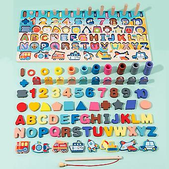 Jmsc Baby Wooden Montessori Educational Kids Early Learning Shape Color Math