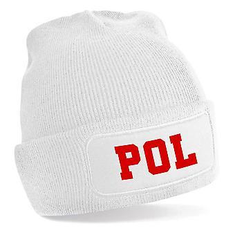Poland National Football Beanie (White)