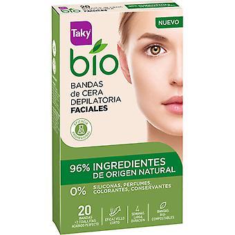 Taky Bio Depilatory Facial Wax Bands 20 units