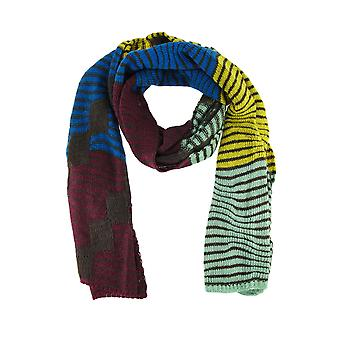 Super Soft Wavy Stripe Color Block Knit Neck / Face Scarf