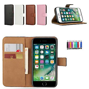 Iphone 7/8 - Leather Case/Cover + Touch Pen