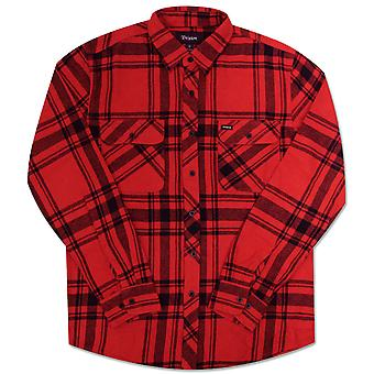Brixton Bowery Long sleeve Flannel Shirt Red Black