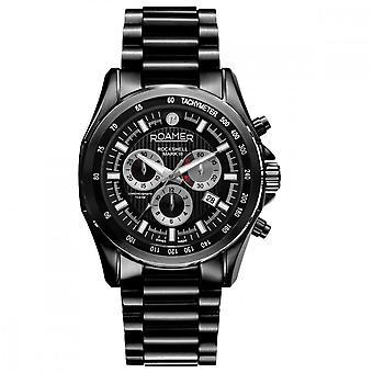 Roamer 220837 42 55 20 Rockshell Mark III Black Bracelet Chronograph Wristwatch