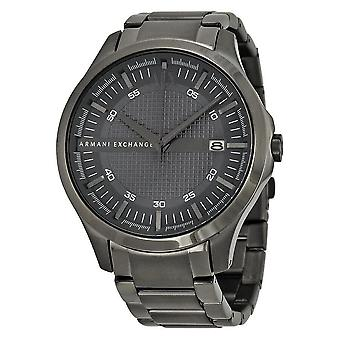 Armani Exchange Hampton Grey Textured Dial Men's Watch AX2135