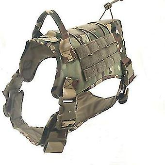 Tactical Dog Harness Military Dog Harness With Handle Xl(Green)