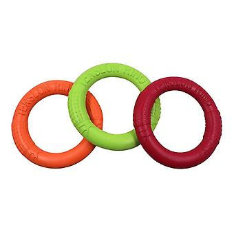 3pcs Dog Flying Ring Toys Floating Pet Training Outdoor Durable Chew Toys