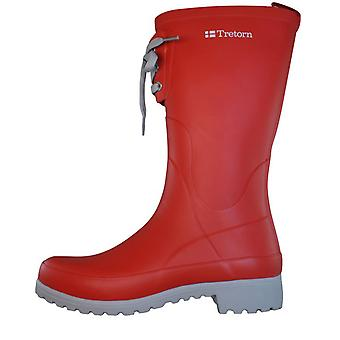 Tretorn Soho Womens Rubber Wellington Boots - Red