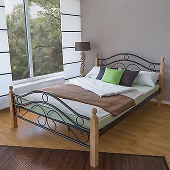 Bettgestell - Plattform - Betten - Modernes schwarzes Holz 215 cm x 185 cm x 61 cm