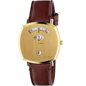 Gucci Men's Grip Gold Dial Watch - YA157411