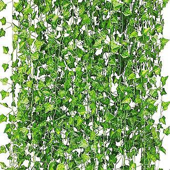Uv-resistant 112-foot Artificial Ivy Wreath 16 Pcs