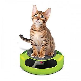Cat jucării pentru animale de companie jucărie automată șicana pisici interactiv mouse-ul care rulează de-a lungul pistei platan jucărie jucărie inteligent teasing