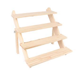 Homemiyn Drewniany wielofunkcyjny stojak do przechowywania Biżuteria kosmetyczna Stojak na wyświetlacze Stojak na biurko