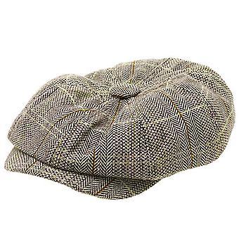 Mens Flat Tweed Herringbone Uutispoika Baker Boy Hatut Lvy Gatsby Caps
