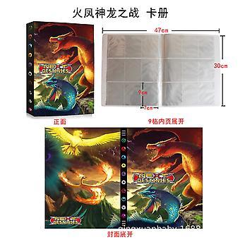 Fire Phoenix Dragon Battle 432 Livre de collection de cartes de jeu