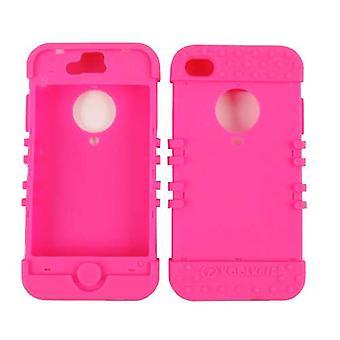 Onbeperkte cellulaire Rocker serie Skin Case voor Apple iPhone 4/4S (fluorescerend magenta)