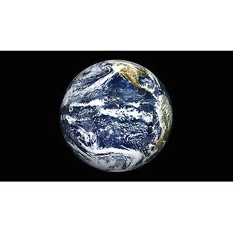 View of Full Earth centered over the Pacific Ocean Poster Print