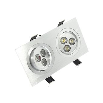 I LumoS High Quality Epistar 6 Watts Silver Rectangle Aluminium LED Spot Downlight