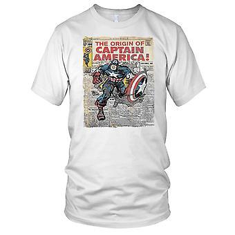 The Origin Of Captain America Superhero Inspired Mens T Shirt