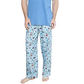 Cyberjammies 6224 James blu Motif pigiama pantaloni da uomo
