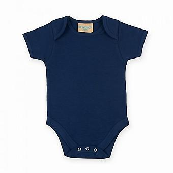 Larkwood Baby Unisex krátke rukávy body oblek s obálkou krku otvorenie
