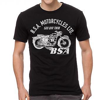 BSA Motorcycles 500 OHV TWIN Men's Black T-shirt