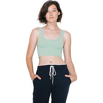 American Apparel das mulheres/senhoras algodão do Spandex leve Crop Top