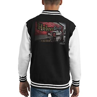 HCS Special Distressed Effect Indy Racer Kid's Varsity Jacket