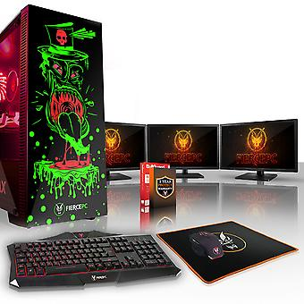 Felle GOBBLER Gaming PC, snelle Intel Core i5 7400 3.5 GHz, 240 GB SSD, 2 TB HDD, 8 GB RAM, RTX 2080 8 GB