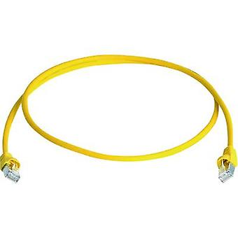 Telegärtner RJ45 Network cable, patch cable CAT 6A S/FTP 50.00 m Yellow Flame-retardant, Halogen-free