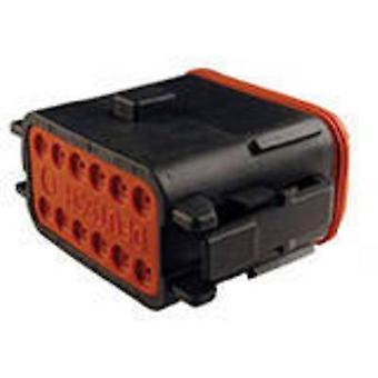 Conector de bala DT06-12SB-CE06 conectividad TE toma, serie recta (conectores): Número Total de despegue de pines: 1 12 PC