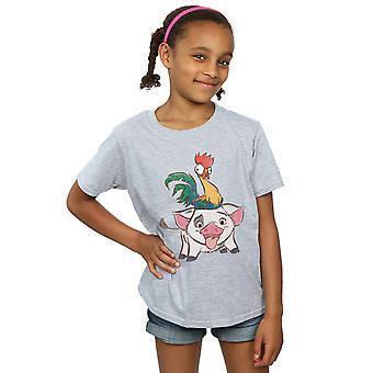 Disney Girls Moana Hei Hei ja Pua t-paita