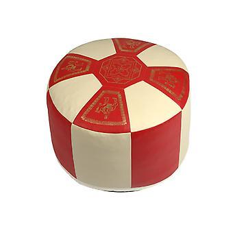 وسادة مقعد الجلود الاصطناعية الأحمر/الشمبانيا 8772104 Ø 50/34 سم