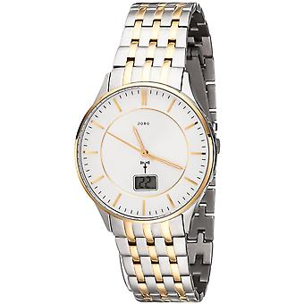 Men's wristwatch radio radio watch stainless steel bicolor men's watch with date