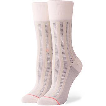 Holdning stripe Down Crew sokker i Cream