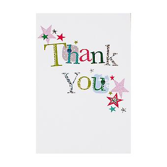 Simon Elvin Open Thank You Individually Wrapped Cards (Pack Of 12)