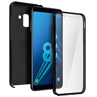 Silikonhülle + hintere Abdeckung aus Polycarbonat für Samsung Galaxy A8 - schwarz