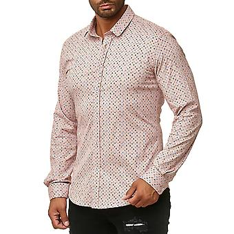 Chemise d'homme chemise manches longues Casual Slim Fit Stretch cintrée exempt de pli occasionnel
