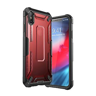 iPhone Xs Max case, [Unicorn Beetle Style] Premium Hybrid Protective Clear Case 2018 Release (Red)