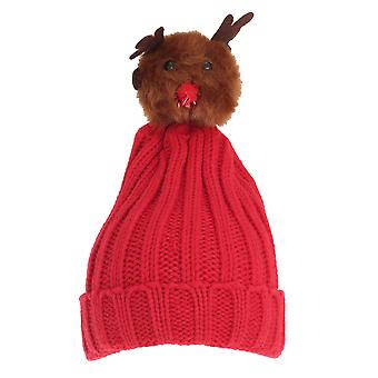 Foxbury Womens/Ladies Christmas Rudolph Knitted Hat