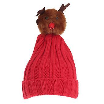 Foxbury Dámske/Dámske vianočné Rudolfa pletené klobúk