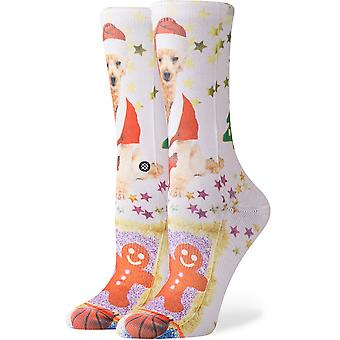 Stance Mrs Paws Crew Socks in White