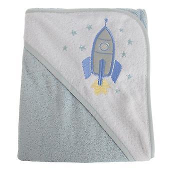 寄り添う赤ちゃん赤ちゃん男の子/女の子ロケット フード付きタオル