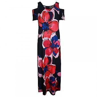 Frank Lyman Cold Shoulder Bold Print Maxi Dress