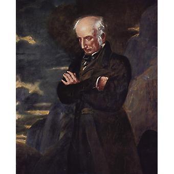 Wordsworth on Helvellyn, Benjamin Robert Haydon, 50x40cm