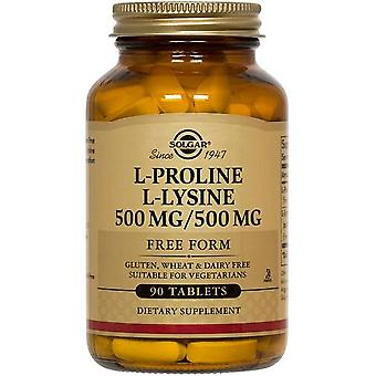 Solgar L-Proline/L-Lysine Tablets (500/500 mg) 90ct