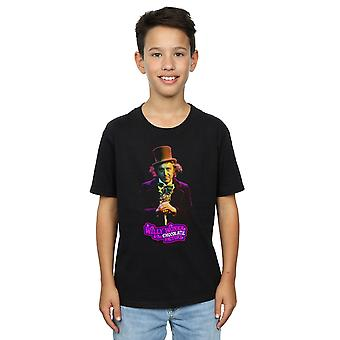 Willy Wonka And The Chocolate Factory Boys Dark Pose T-Shirt