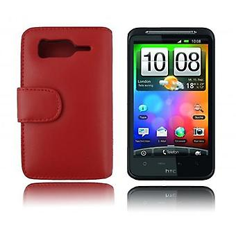 Cadorabo Case for HTC DESIRE HD Case Cover - Phone Case in Smooth Faux Leather with Stand Function and Card Case Compartment - Case Cover Case Case Case Case Book Folding Style