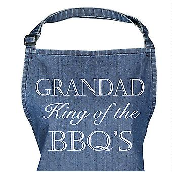 Blue Denim Apron Grandad King Of The BBQ Apron