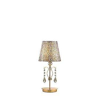 Ideal Lux - Pantheon Gold-Finish Tischlampe mit Glas IDL088167