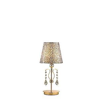 Ideale Lux - Pantheon gouden afwerking tafellamp met glas IDL088167